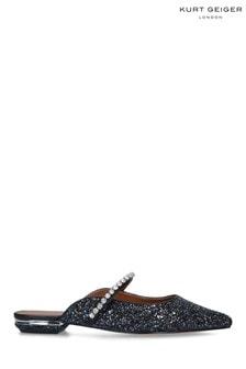 Kurt Geiger London Black Princely 2 Glitter Heel Shoes