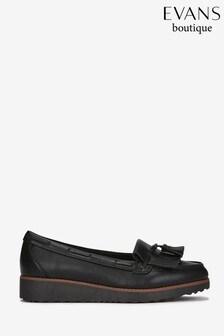 super popular 1e66e 8e5f1 Black Evans Black Extra Wide Fit Tassel Loafer