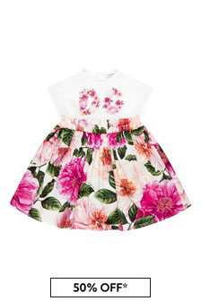 Dolce & Gabbana Kids Baby Girls Pink Dress