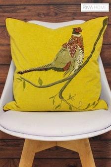 Riva Home Embroidered Pheasant Cushion