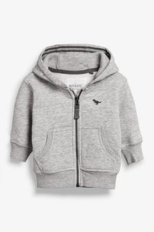 Grey Marl Essential Zip Through Hoody (3mths-7yrs)