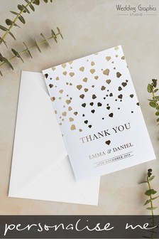 Personalised Confetti Foil Thank You Card by Wedding Graphics