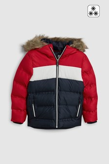 Red/Navy  Padded Jacket (3-16yrs)