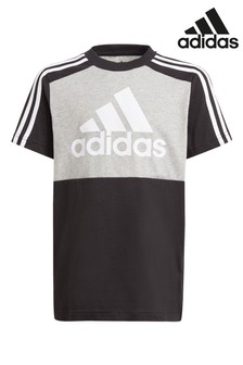 adidas Black Block 3 Stripe T-Shirt