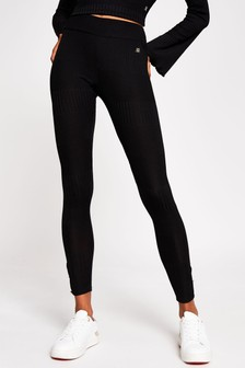 River Island Black Keyhole Detail Leggings