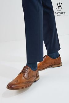 Tan Contrast Sole Leather Brogues