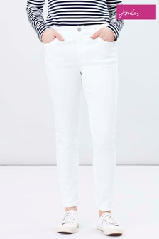 Joules White Monroe High Rise Stretch Skinny Jeans