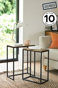 Natural/Black Jefferson Nest Of 2 Tables