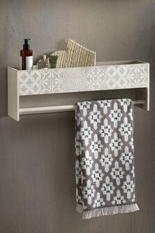 Tile Print Shelf Rack