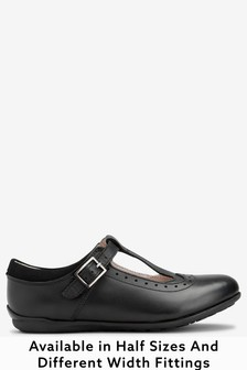 Leather T-Bar Leather Shoes