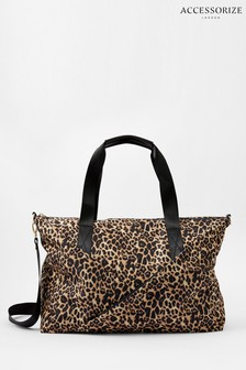 Accessorize Leopard Robyn Leopard Print Weekend Bag