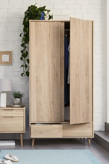 Oak Effect Oslo Double Wardrobe