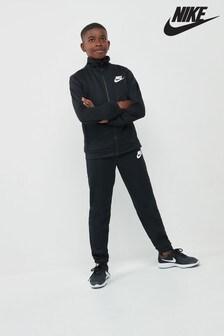Black  Nike Poly Tracksuit