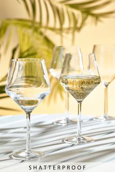 Shatterproof Set of 4 Wine Glasses