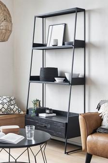 Black Jefferson Storage Ladder Shelf