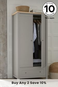 Dove Grey Malvern Double Wardrobe