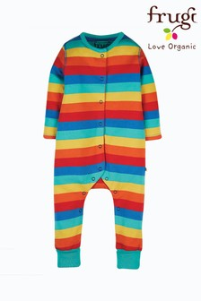 Frugi Organic Cotton Rainbow Stripe Footless Romper