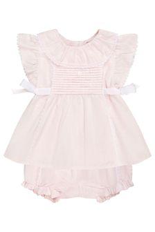 ثوب أطفال قطن وردي للبنات البيبي