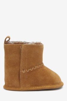 Tan Pram Pull-On Boots (0-18mths)