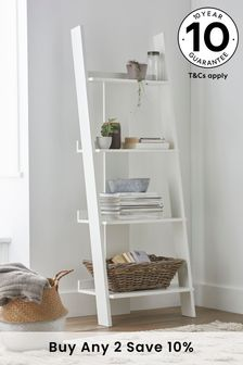 White Flynn Ladder Shelf