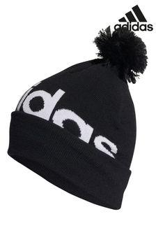 adidas Black Logo Pom Hat