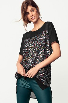Rainbow Sequin  Tunic