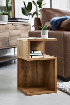 Oak Effect Bronx S Side Table / Bedside
