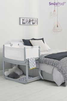 Grey Snüzpod3 Bedside Crib