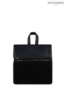Accessorize Black Mini Lydia Leather Backpack