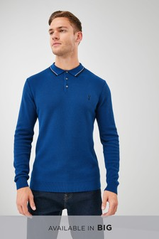 Cobalt   Tipped Polo