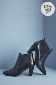Navy Extra Wide Fit Forever Comfort® Formal Ankle Boots