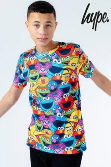 Hype. x Sesame Street All Over Character Print Kids T-Shirt