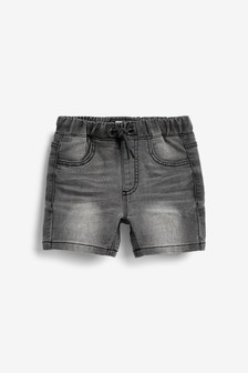 Grey Jersey Denim Shorts (3mths-7yrs)