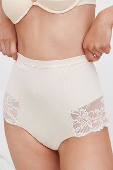 Black/Nude Shaping Lace Back Knickers Two Pack