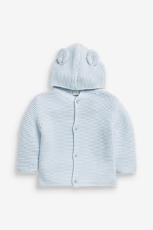 Blue Bear Hooded Cardigan (0mths-3yrs)