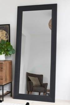Wood Effect Floor Mirror