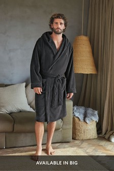 Slate Super Soft Hooded Dressing Gown