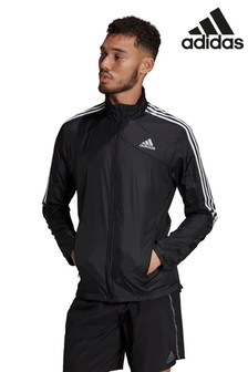 adidas Black Marathon 3 Stripe Jacket