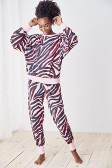 Pink Animal Cosy Pyjamas