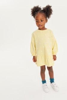 Yellow Sunshine Sweat Dress (3mths-7yrs)