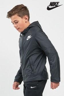 Black  Nike Fleece Lined Jacket