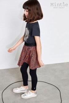 Mintie by Mint Velvet Black Star Embroidered Leggings