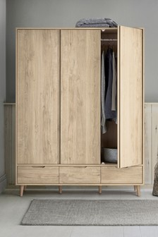 Oak Effect Oslo Triple Wardrobe