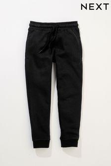 Black Slim Fit Cuffed Joggers (3-17yrs)