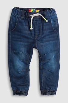 Dark Blue  Jersey Lined Pull-On Jeans (3mths-6yrs)