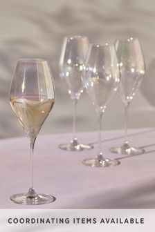 Paris Lustre Effect Set of 4 White Wine Glasses