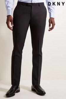 DKNY Slim Fit Black Trousers