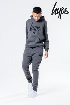 Hype. Grey Overhead Hoody And Jogger Set