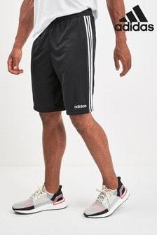 adidas Black D2M 3 Stripe Short
