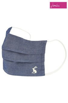 Joules Blue Woven Face Covering